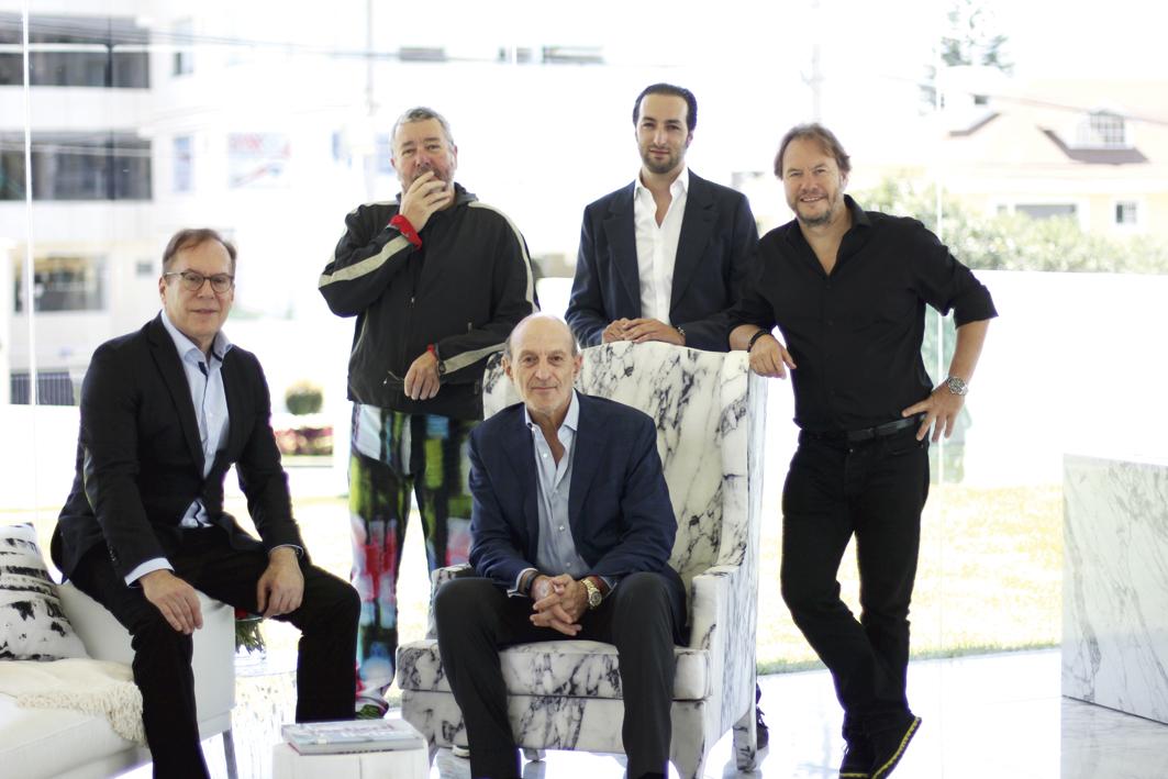 Bernardo Fort-Brescia, Philippe Starck, Arq. Tommy Schwarzkopf, Joseph Schwarzkopf, John Hitchcox