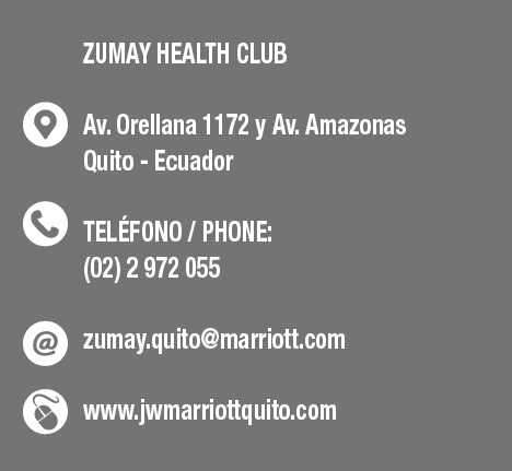 Zumay Helth Club - JW Marriott Quito - CLAVE Turismo Ecuador