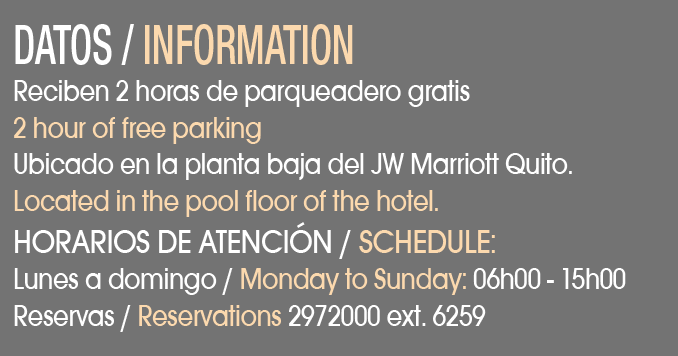 JW Marriott Quito - CLAVE! Turismo Ecuador